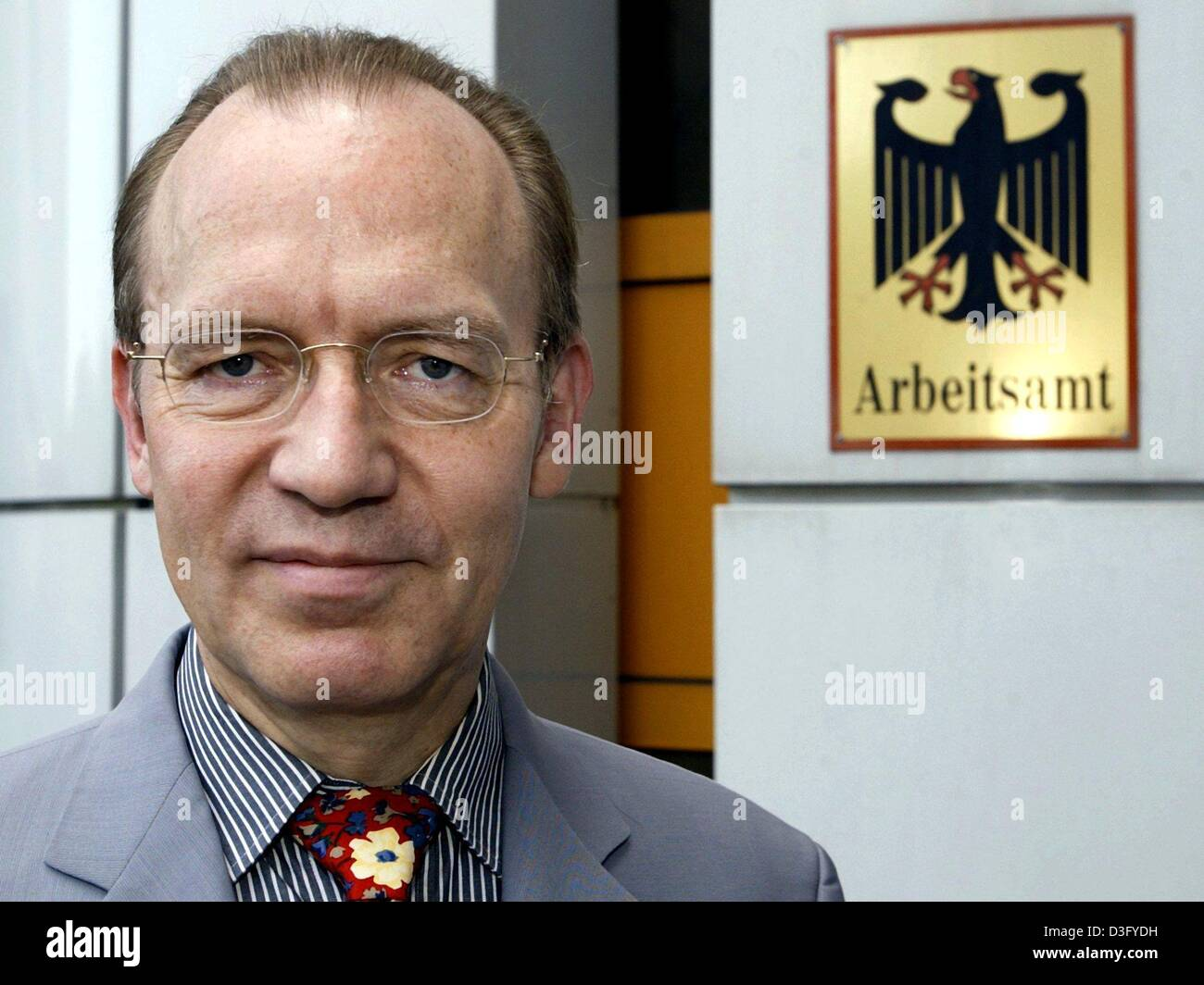 (dpa) - Florian Gerster, chairman of the board of directors of the German federal labour office, pictured in Neukirchen, - Stock Image