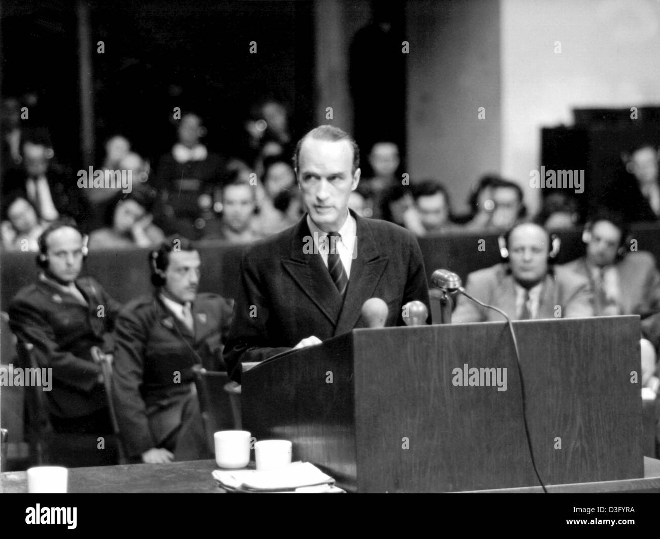 (dpa files) - The industrial magnate Alfried Krupp von Bohlen und Halbach, former sole owner of the Krupp company - Stock Image