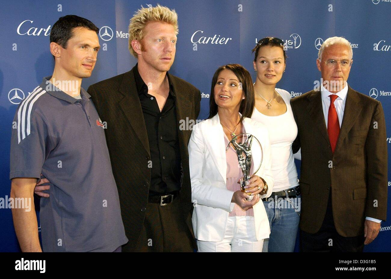 (dpa) - The judges and nominees of the 'Laureus World Sports Award' (L-R) German cyclist Michael Teuber, - Stock Image