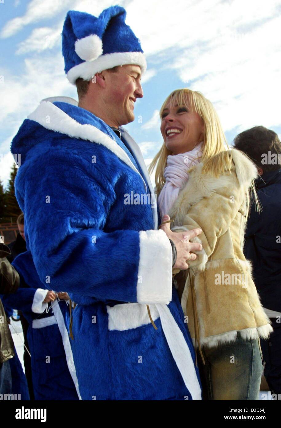 Dpa German Formula One Driver Ralf Schumacher Dressed In A Blue