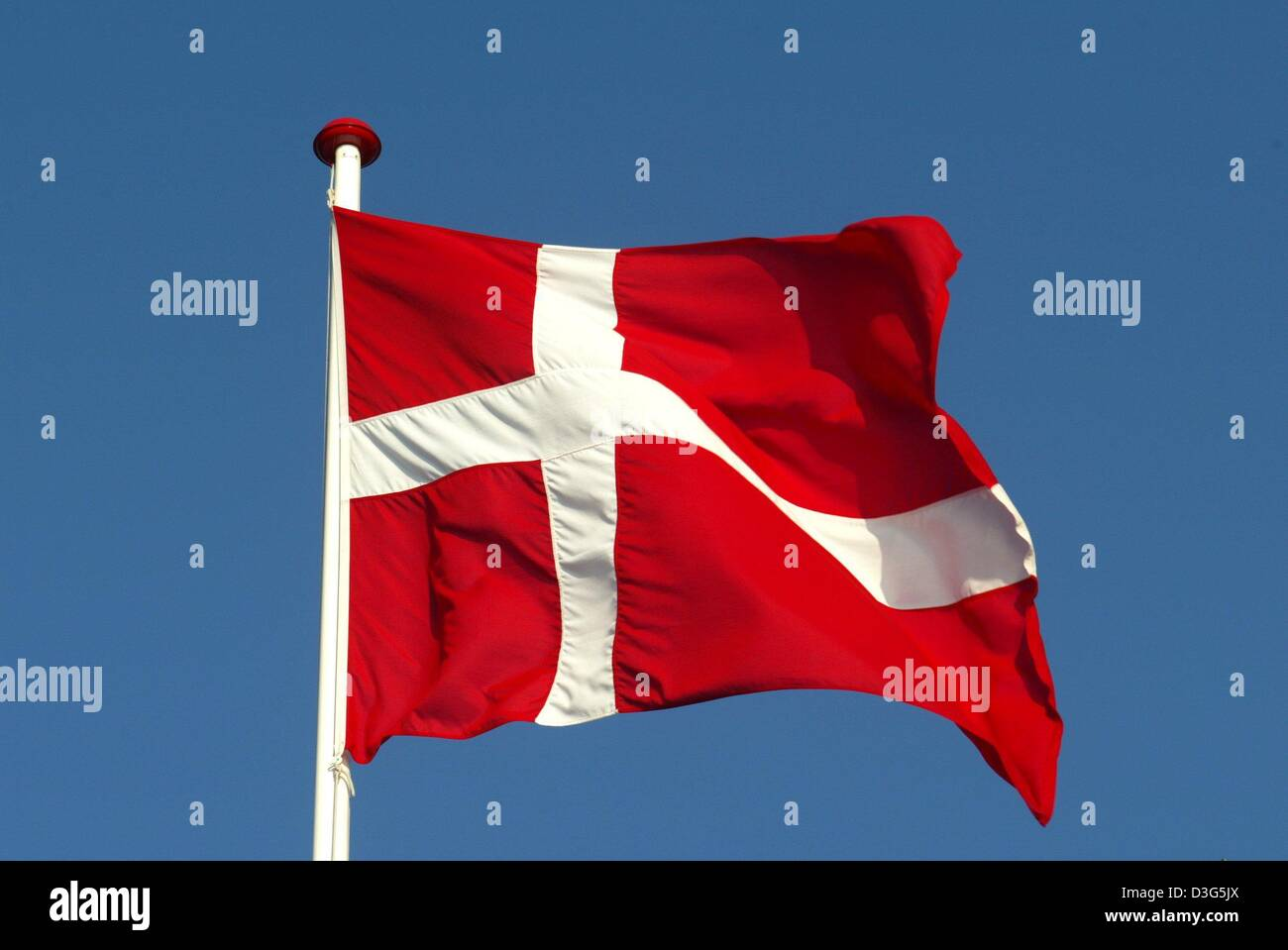 Dpa The National Flag Of Denmark A White Cross On A Red Ground