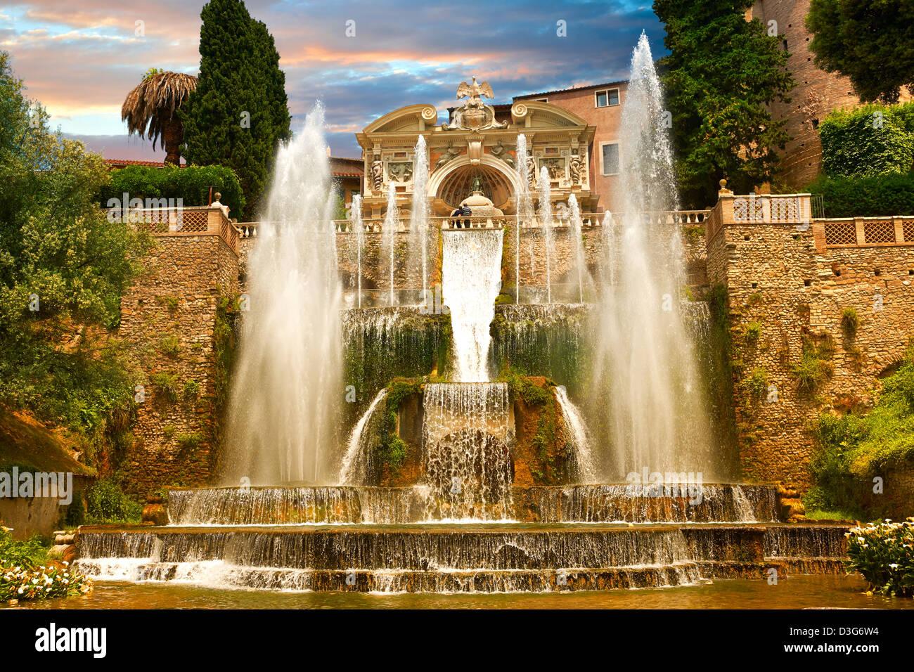 Villa D\'este Tivoli Italy Unesco Stock Photos & Villa D\'este Tivoli ...
