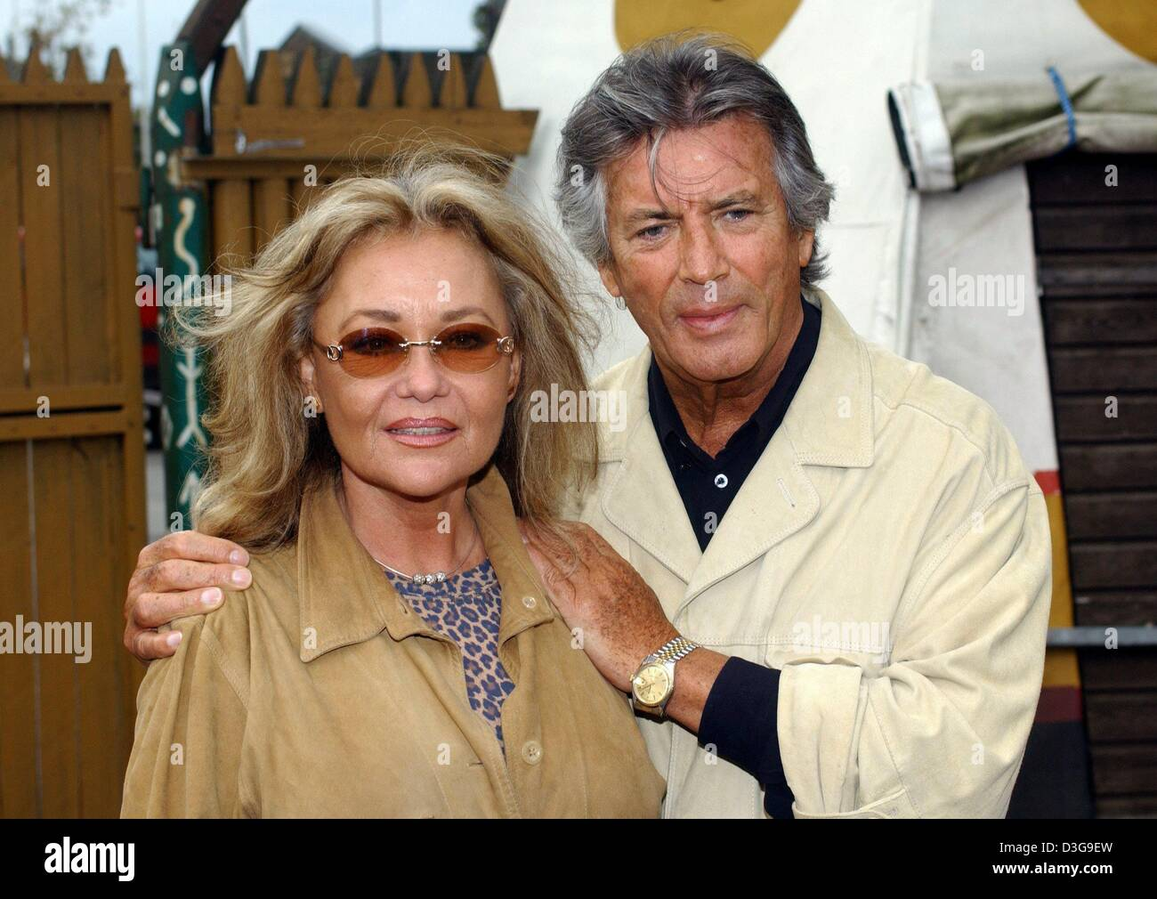 (dpa) - French actor Pierre Brice poses with his wife Hella as he presents  his autobiography 'Winnetou und ich - Mein wahres Leben' (Winnetou and I -  my ...