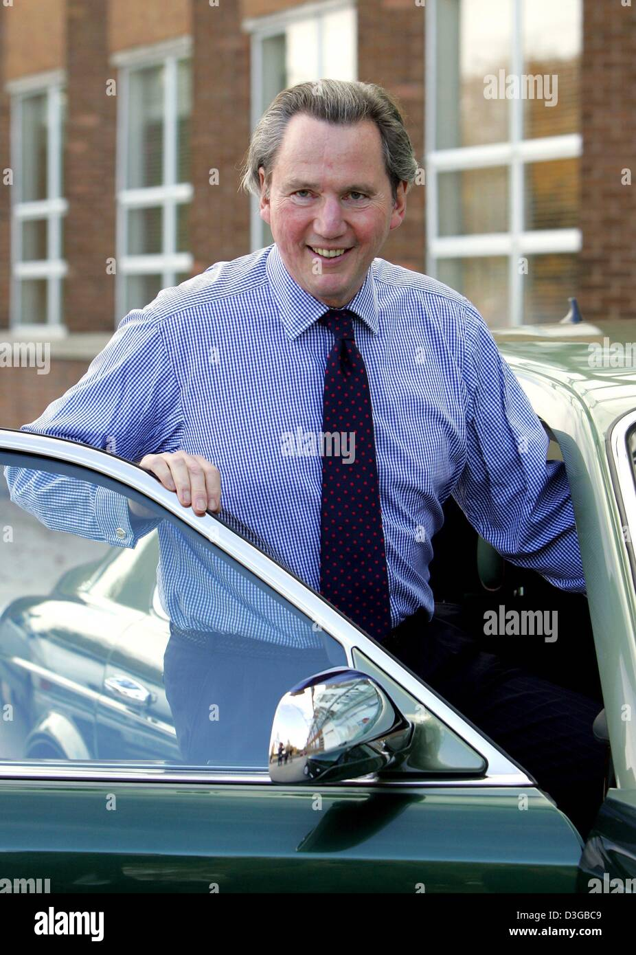 (dpa) - The chairman of the management board of British carmaker Bentley Motors, Franz-Josef Paefgen, stands in - Stock Image
