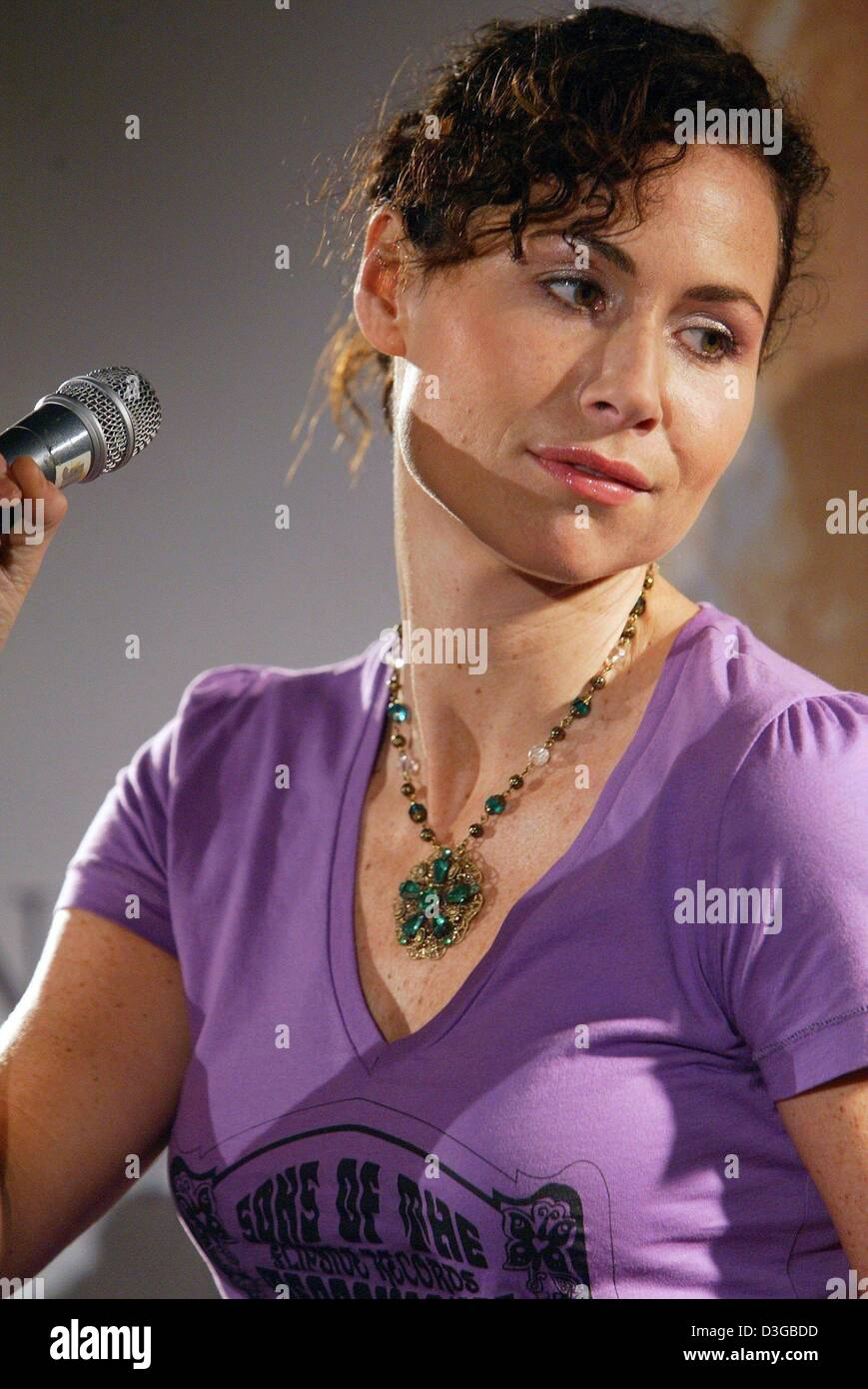 (dpa) - British singer and actress Minnie Driver presents songs from her debut album 'Everything I've Got - Stock Image