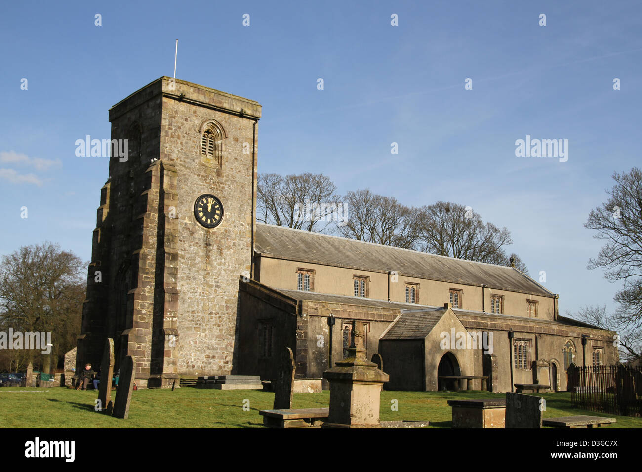 St Andrew's Church, Slaidburn, is located in Church Street, Slaidburn, Lancashire, England. Stock Photo