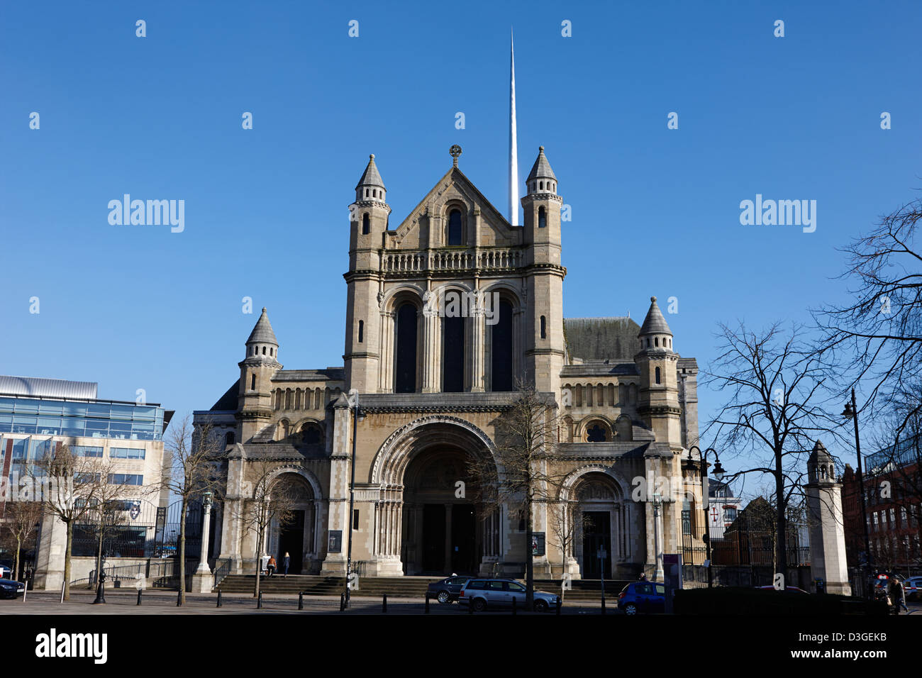 saint annes belfast cathedral Belfast Northern Ireland uk - Stock Image