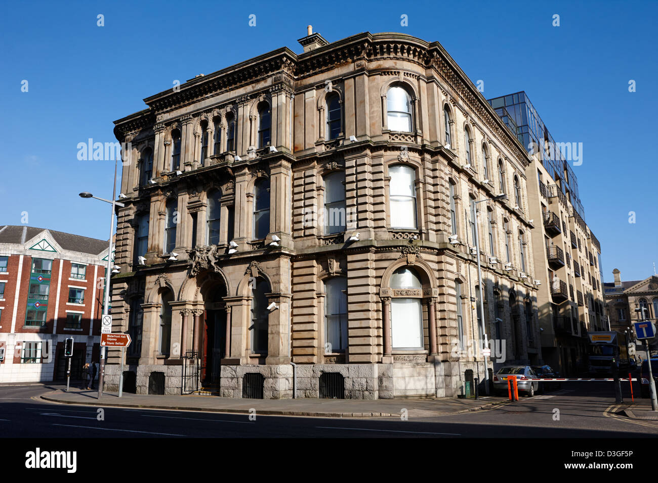 the headline building former scottish amicable life assurance company Belfast Northern Ireland uk - Stock Image