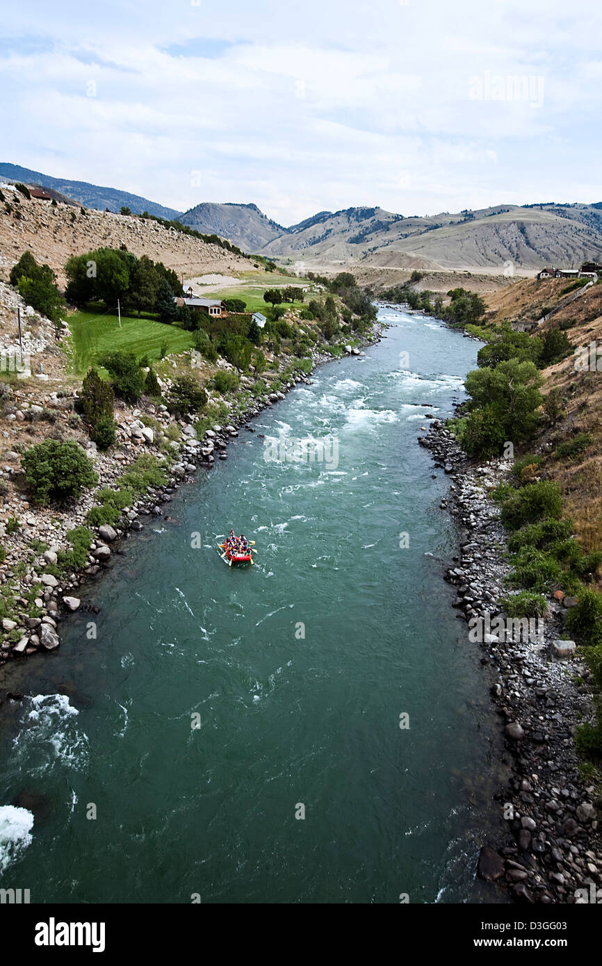 Whitewater rafting, Yellowstone river, near Gardiner, Montana, USA - Stock Image