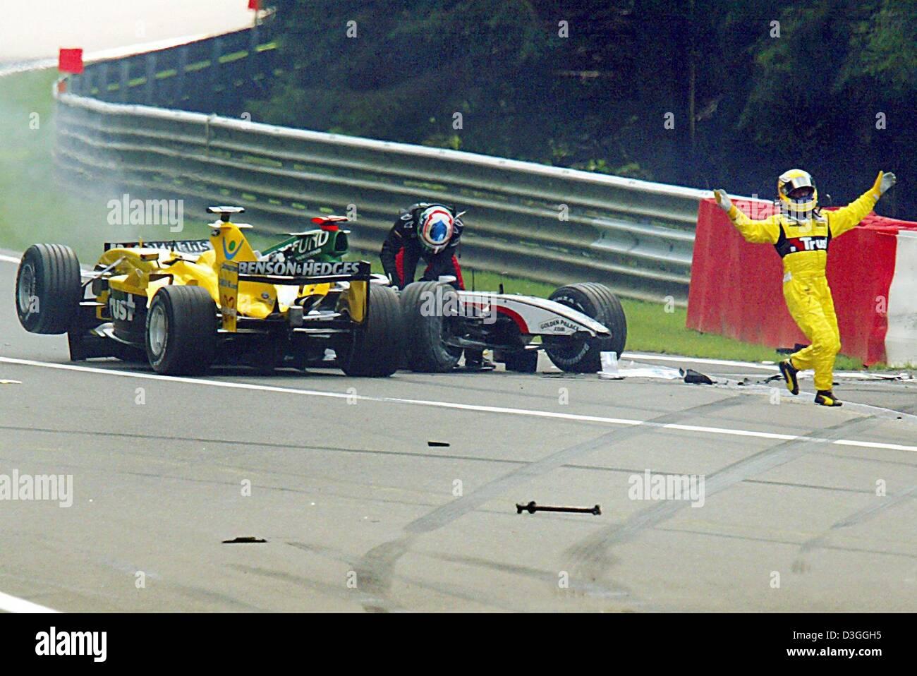 super populaire 3bd8f 979f8 dpa) - Italian formula one driver Giorgio Pantano (Jordan ...