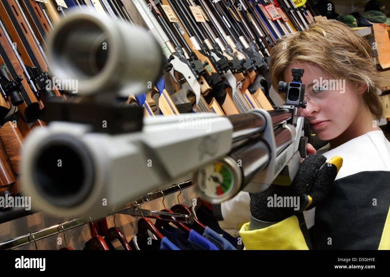dpa an employee of gunsmith knappworst inspects an air rifle at