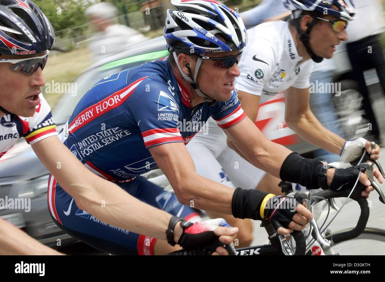 (dpa) - US cyclist and five-time Tour de France winner Lance Armstrong 8410a2517