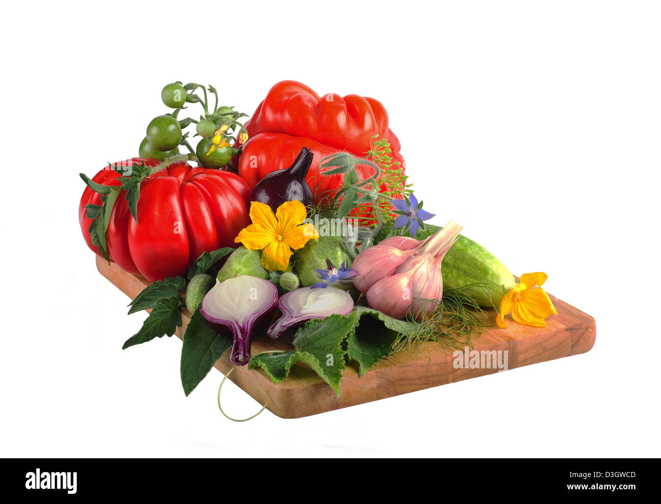 Tomato Flowers Cut Out Stock Images Pictures Alamy Prune Tomatoes Diagram Of Plant Cucumbers And Onions On A Wooden Board Image