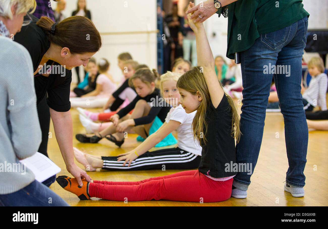 Children take part in auditions at the Friedrichstadt-Palast in Berlin,Germany, 19February 2013. The Friedrichstadt Stock Photo
