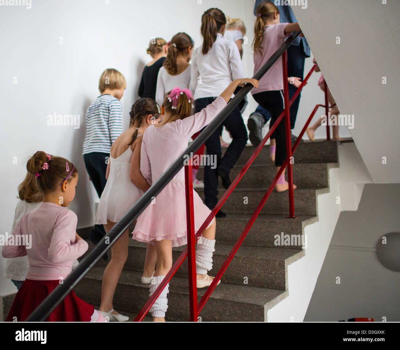 Children wait for the start of auditions at the Friedrichstadt-Palast in Berlin,Germany, 19February 2013. The Stock Photo