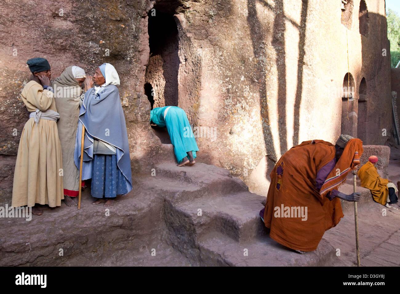 Bet Maryam Church, Lalibela, Ethiopia - Stock Image