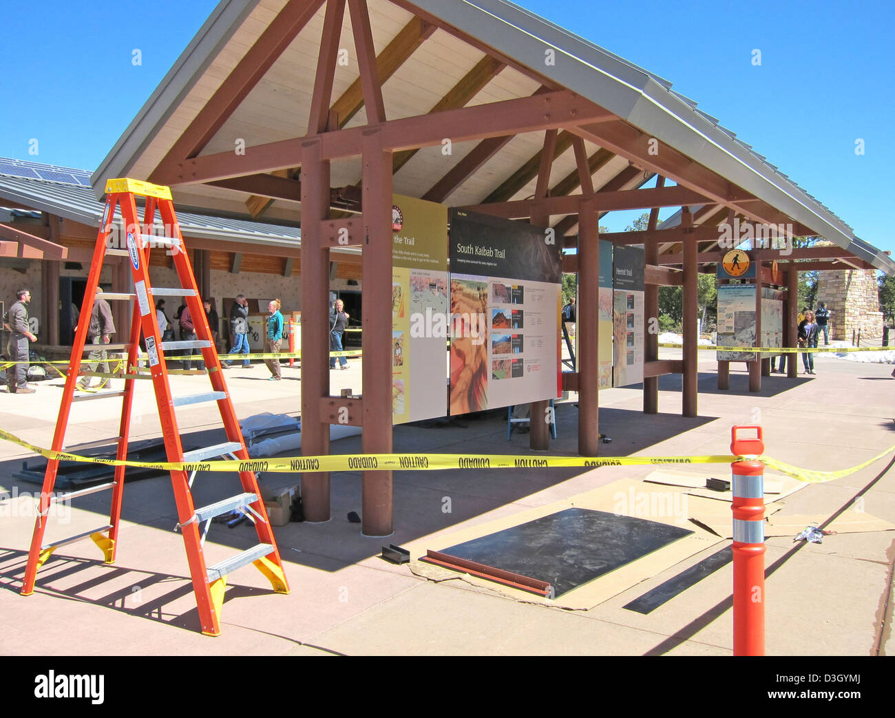 Grand Canyon Nat Park: Visitor Center Exhibit Installation 2368 - Stock  Image