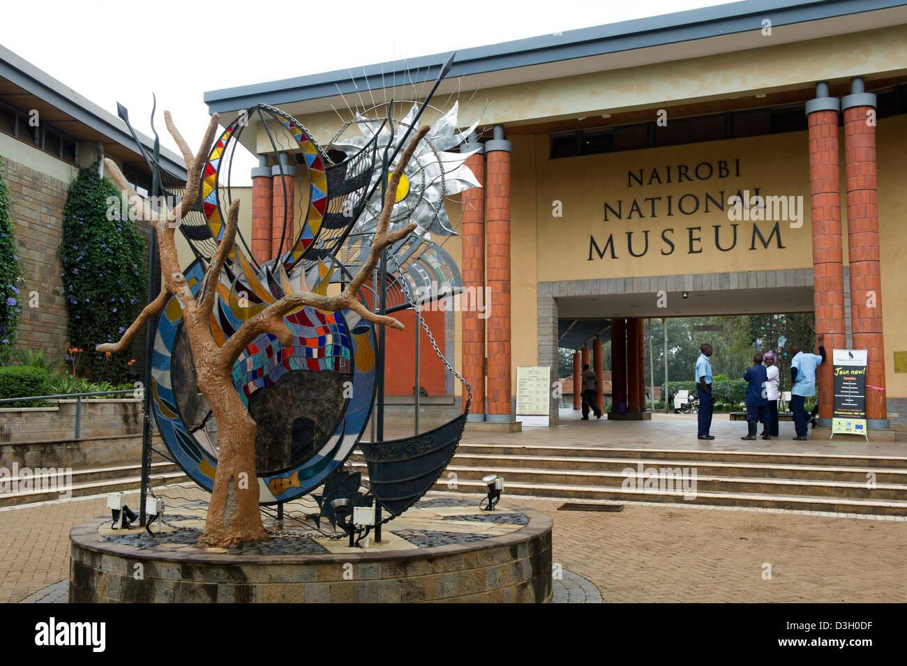 Entrance of the Nairobi National Museum, Nairobi, Kenya Stock Photo