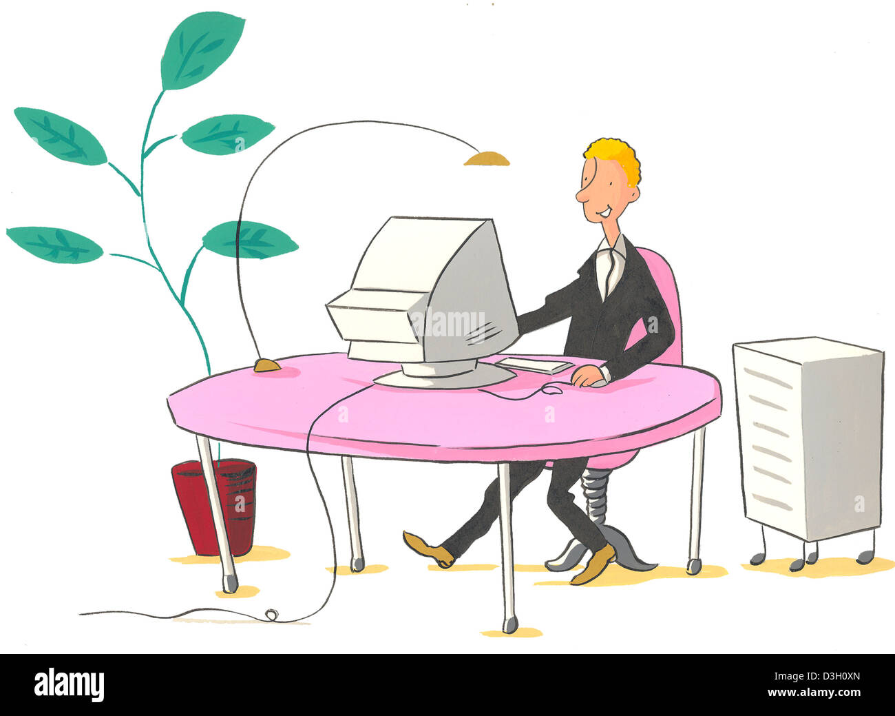 COMPUTER, ILLUSTRATION - Stock Image