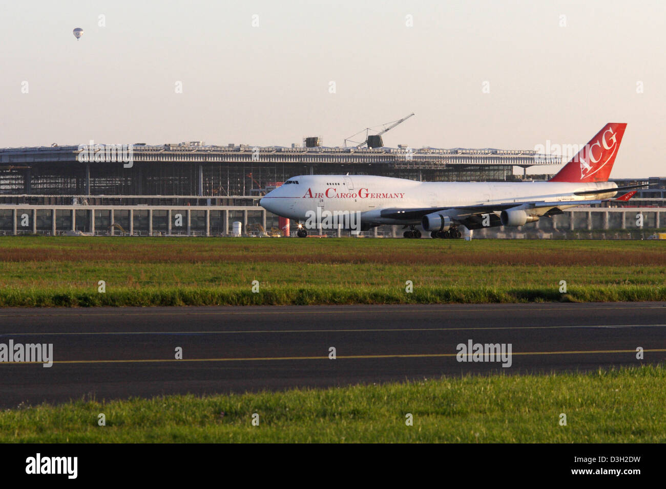 Schoenefeld, Germany, aircraft of Air Cargo Germany on the tarmac of the BBI - Stock Image