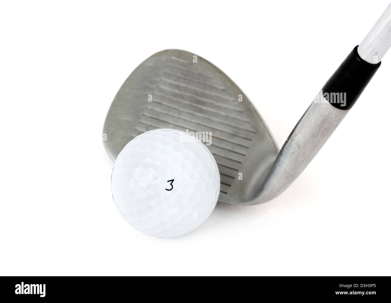 Golf ball and golf club - Stock Image