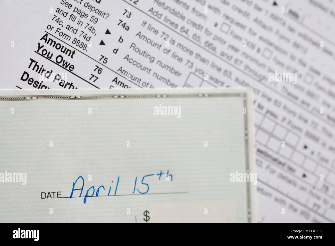 Tax Refund Check Stock Photos Tax Refund Check Stock Images Alamy