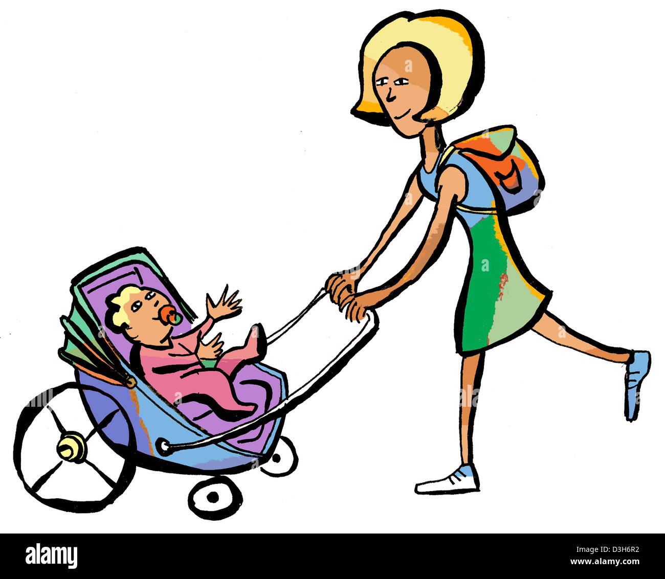 TRANSPORTING AN INFANT - Stock Image