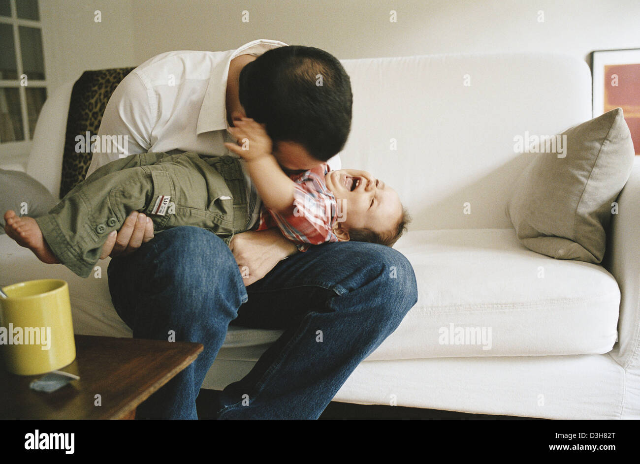 FATHER & INFANT - Stock Image