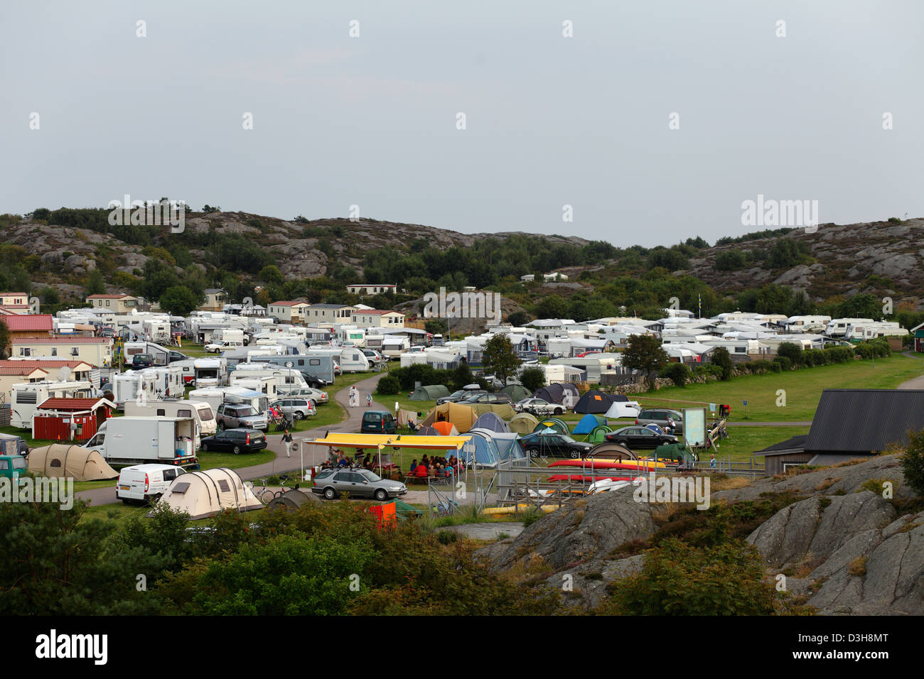 Stocken, Sweden, camping in the coastal town of stalling - Stock Image