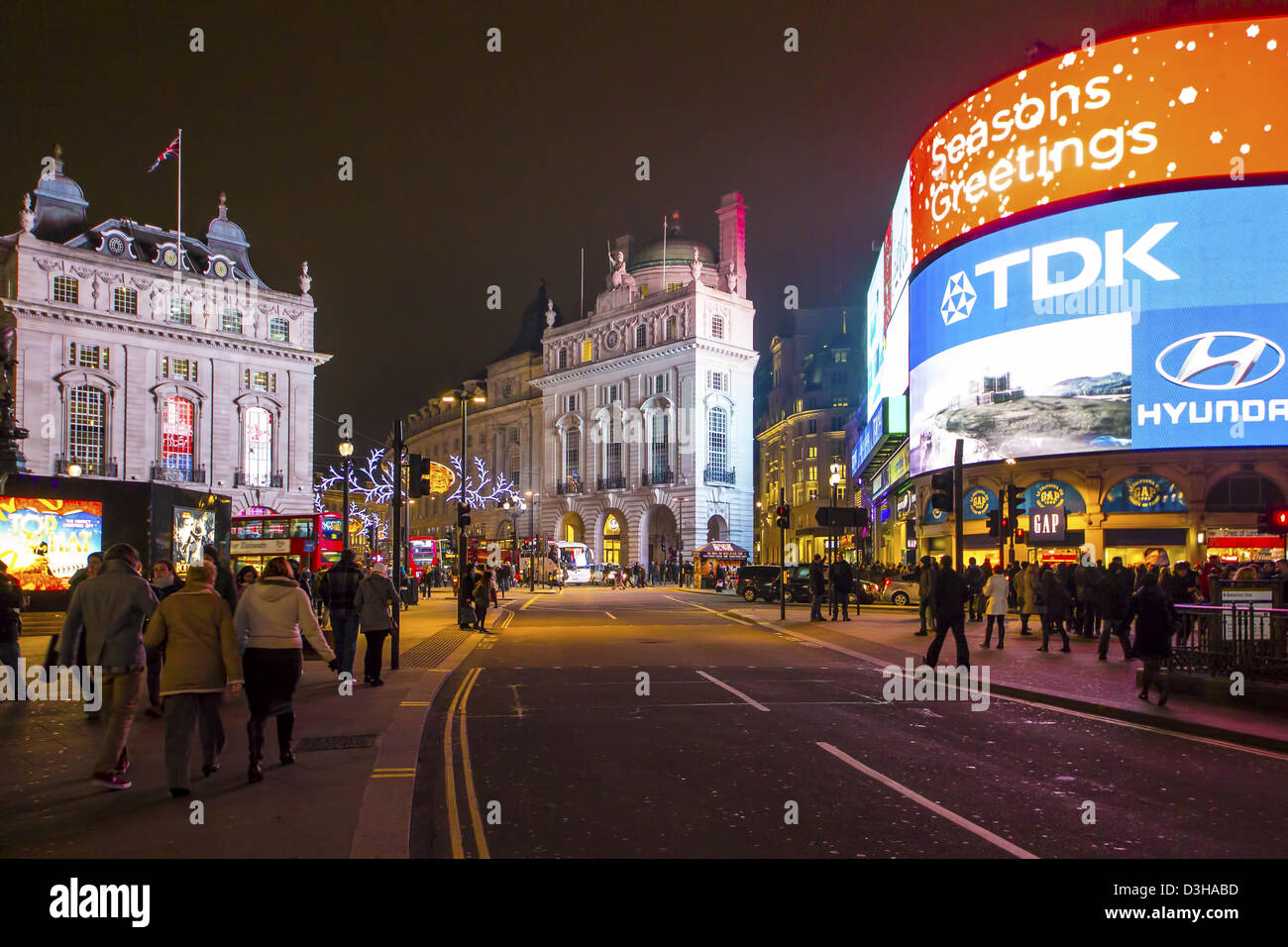London, Piccadilly Circus, TDK, - Stock Image