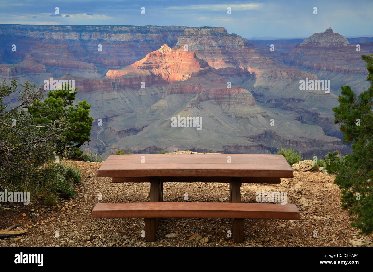Grand Canyon National Park: View from Shoshone Point 8400 - Stock Image
