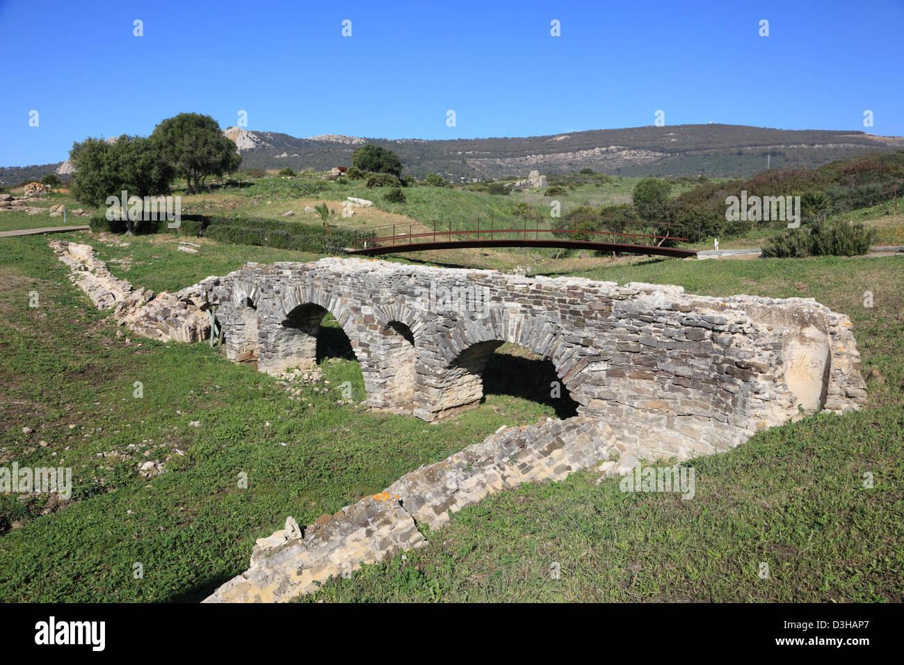 Roman ruins Baleo Claudia near village Bolonia, Andalusia, southern Spain Stock Photo