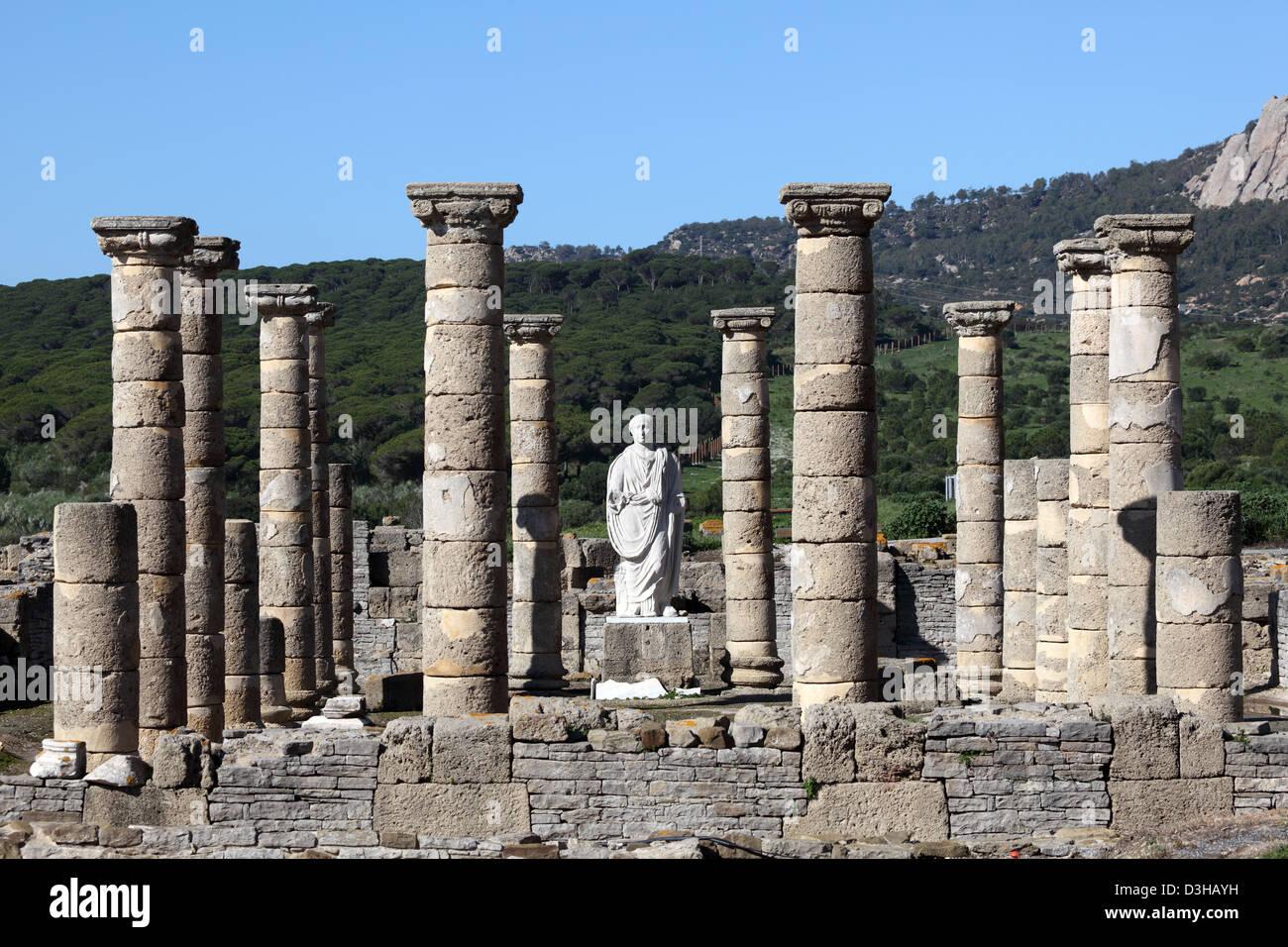 Roman temple ruin in Bolonia, Andalusia, southern Spain Stock Photo