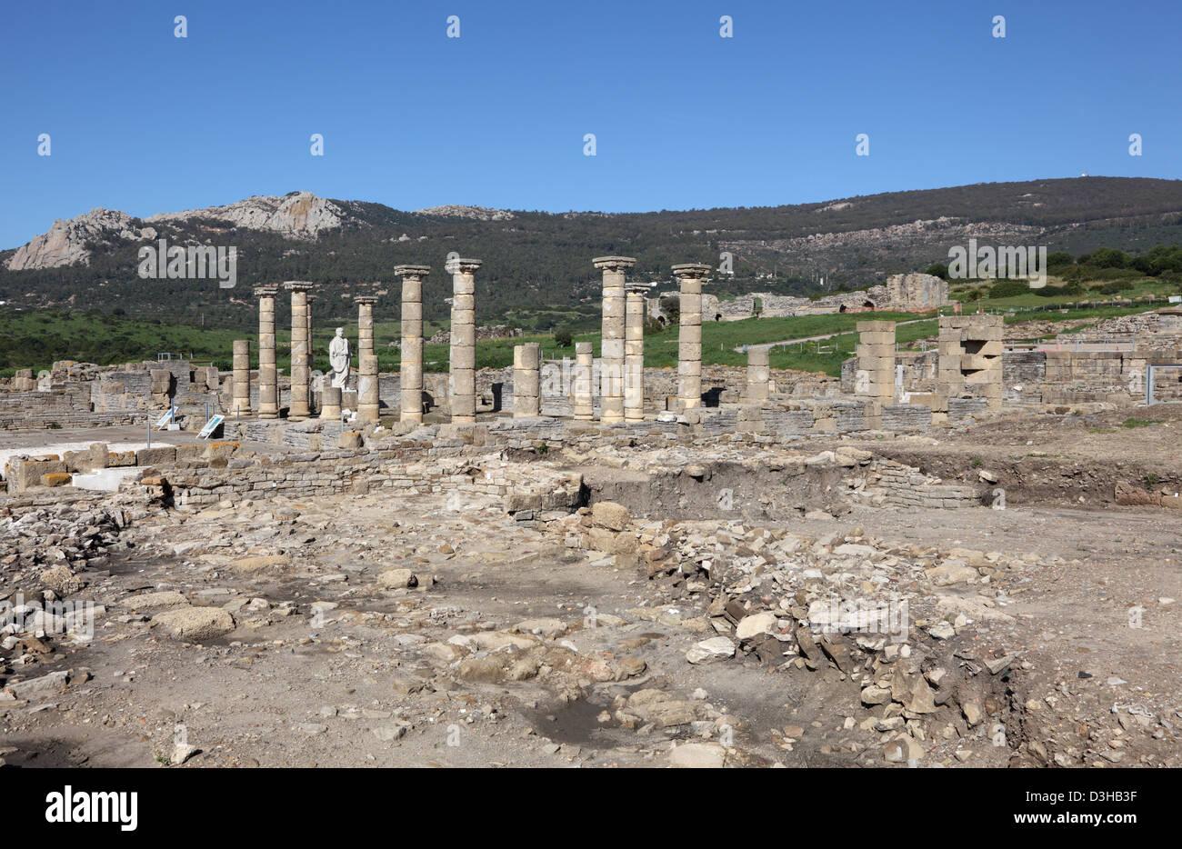 Roman ruin Baleo Claudia in Bolonia, Andalusia, southern Spain Stock Photo