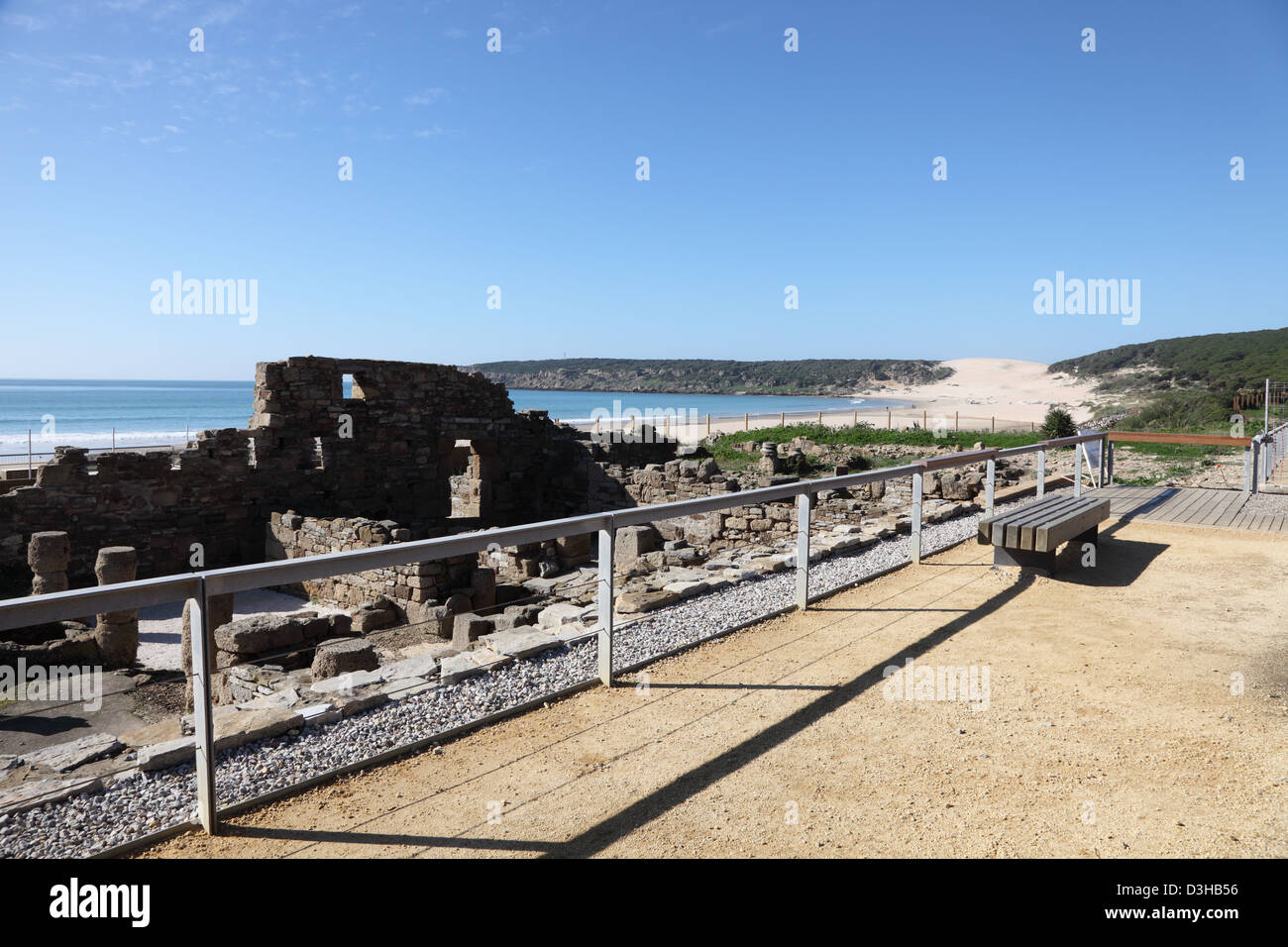 Ruins of the roman town Baleo Claudia in Andalusia, southern Spain Stock Photo