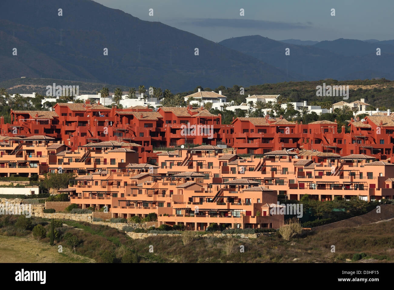 New Urbanisation at the Costa del Sol, Andalusia, Spain - Stock Image
