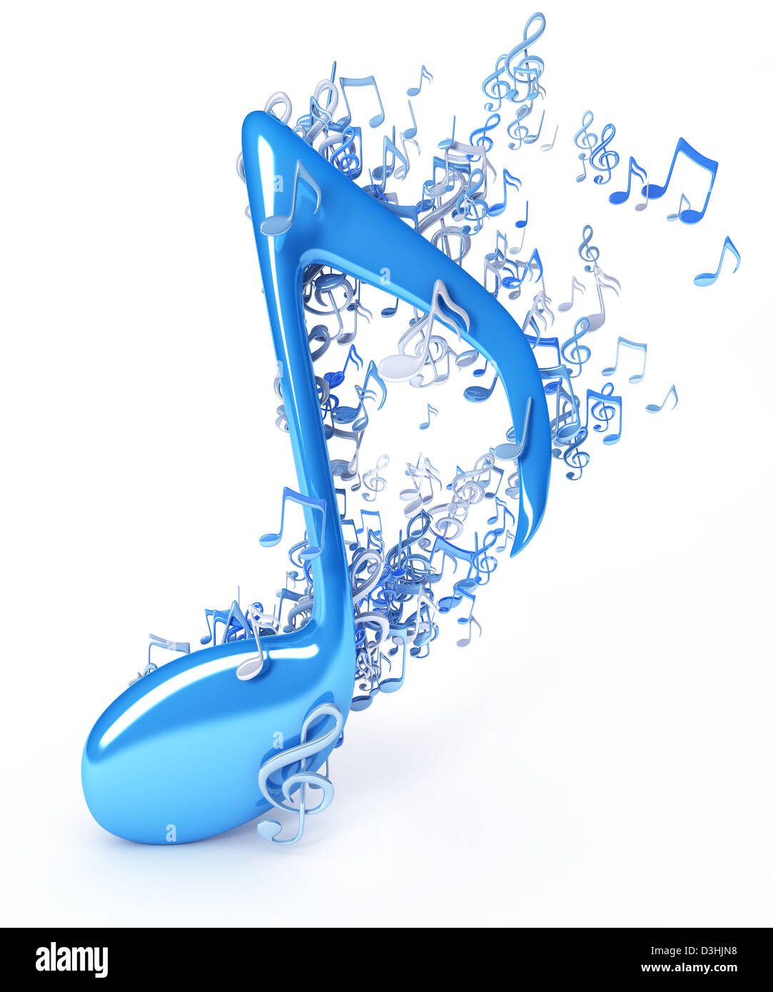 Music notes - Stock Image