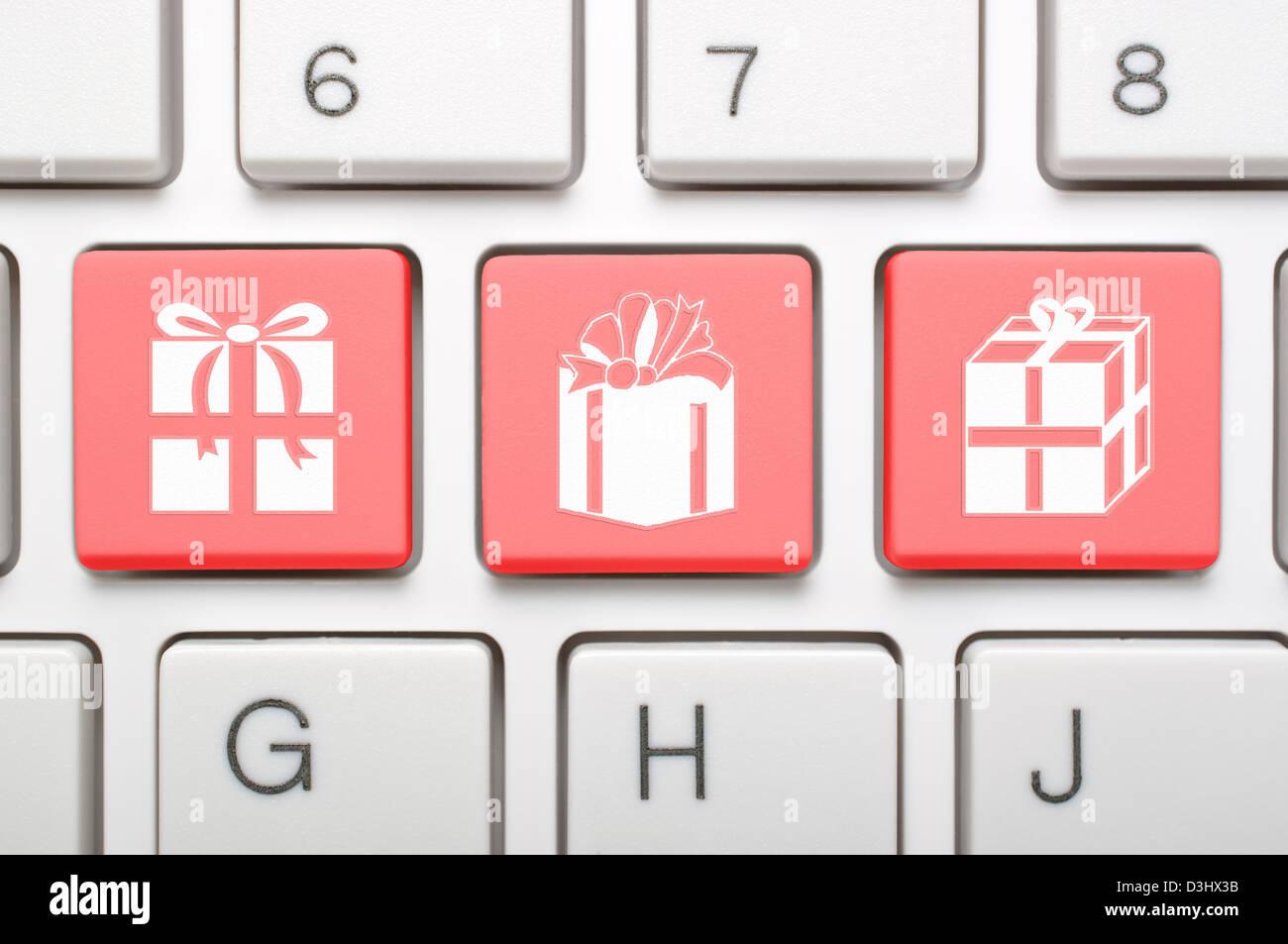 Gift Symbol On Keyboard Stock Photos Gift Symbol On Keyboard Stock