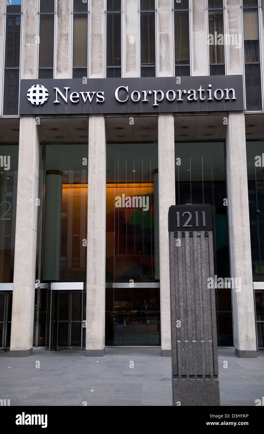 Entrance to 1211 Avenue of the Americas also known as the News Corp.  building.
