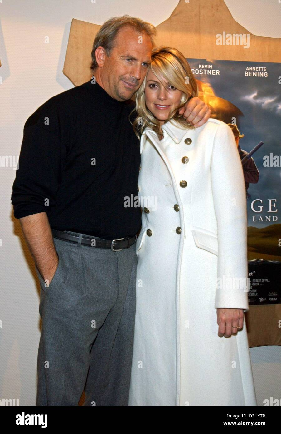 Christine Baumgartner And Kevin Costner Stock Photos