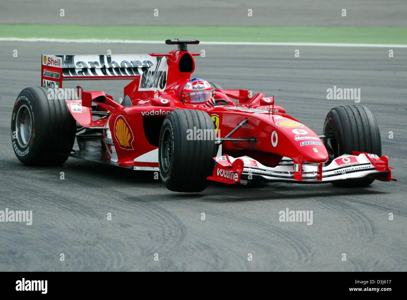 Dpa Brazilian Formula 1 Driver Rubens Barrichello Team Ferrari Stock Photo Alamy