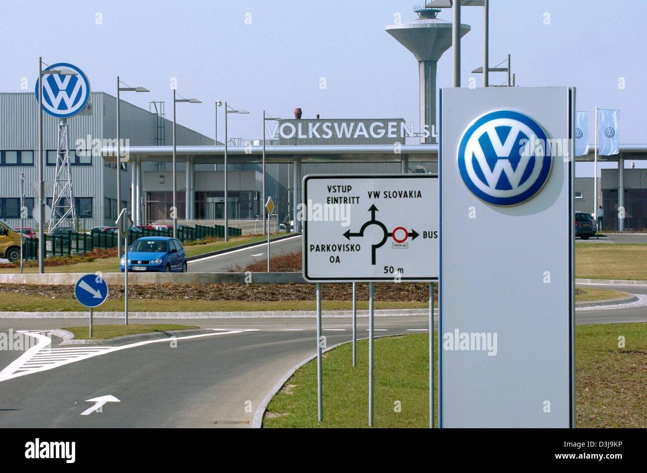 dpa view of the factory grounds of volkswagen vw