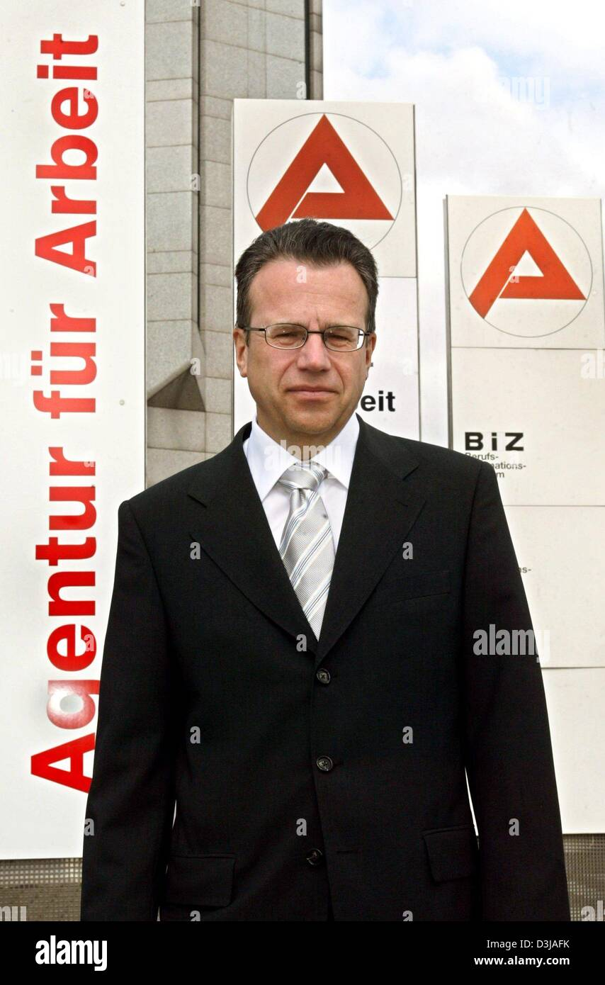 (dpa) - Frank-Juergen Weise, head of the Federal Employment Office (Bundesanstalt fuer Arbeit), poses in front of Stock Photo