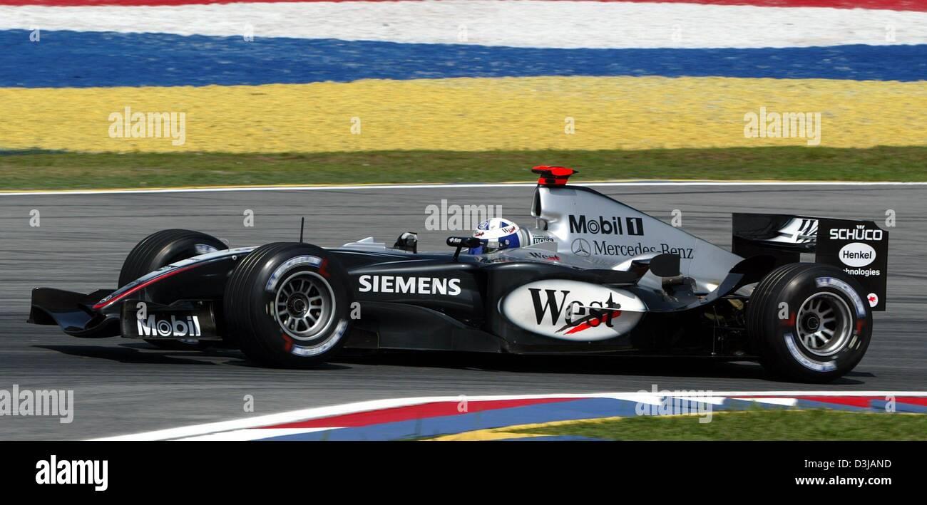 dpa) the scottish f1 pilot david coulthard (mclaren mercedes) races