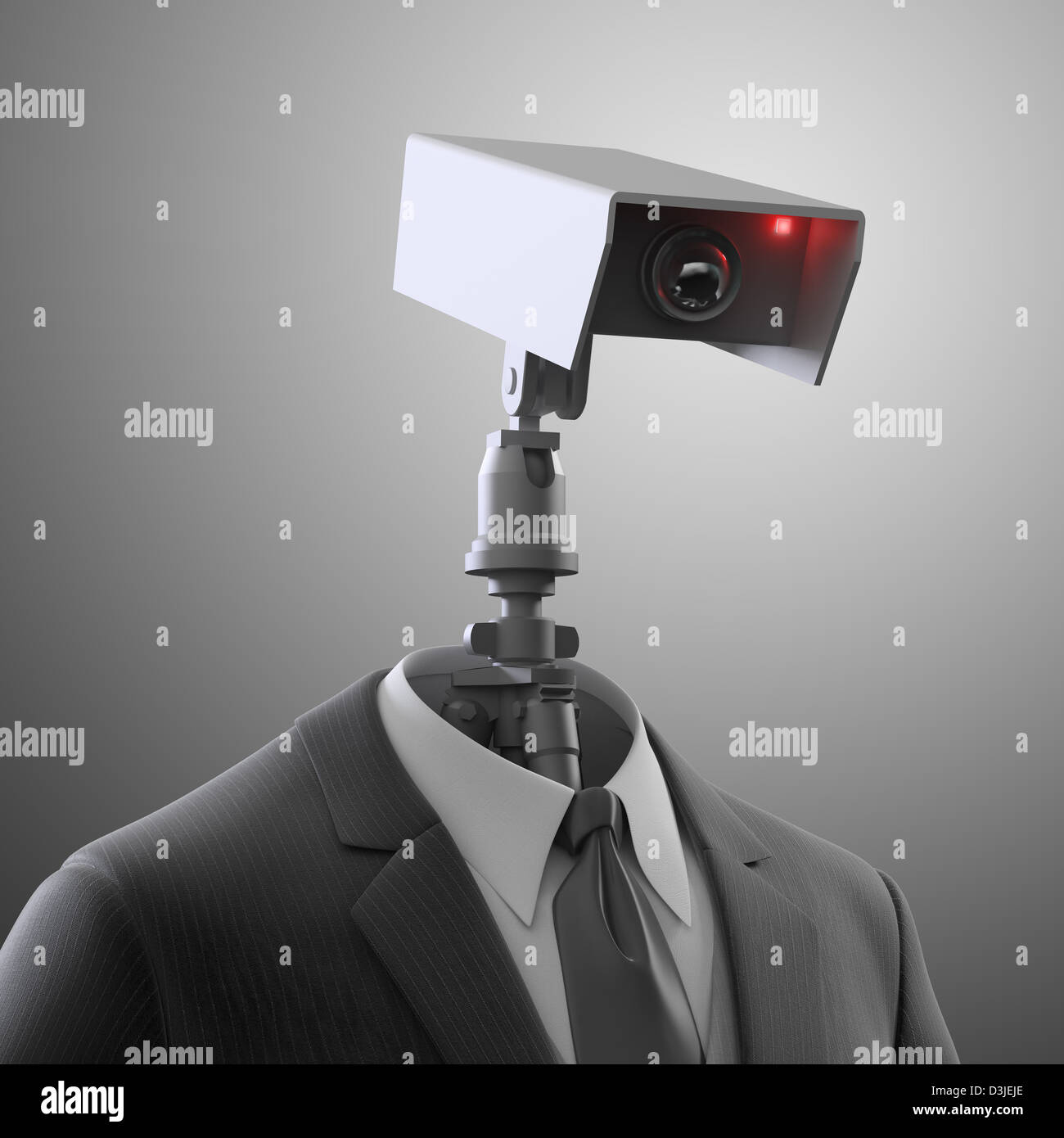 A robotic security camera - automated surveillance - Stock Image