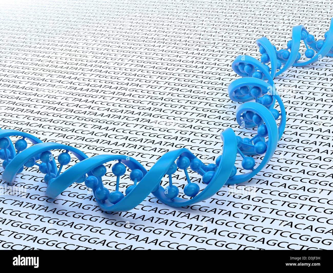 DNA strand sequencing concept illustration - Stock Image
