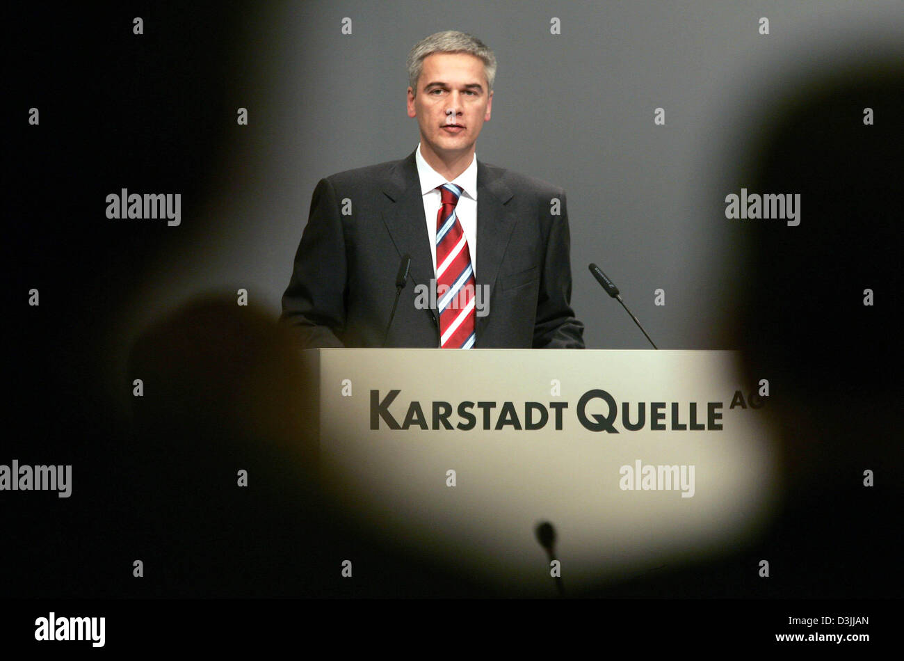 (dpa) - Harald Pinger, Interim Chief Executive of embattled German department store and mail order concern KarstadtQuelle, Stock Photo