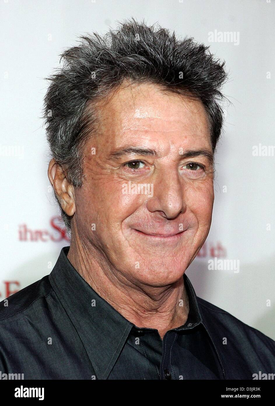 (dpa) - US actor Dustin Hoffman smiles during a photo call for the upcoming start of his film 'Meine Frau, ihre - Stock Image