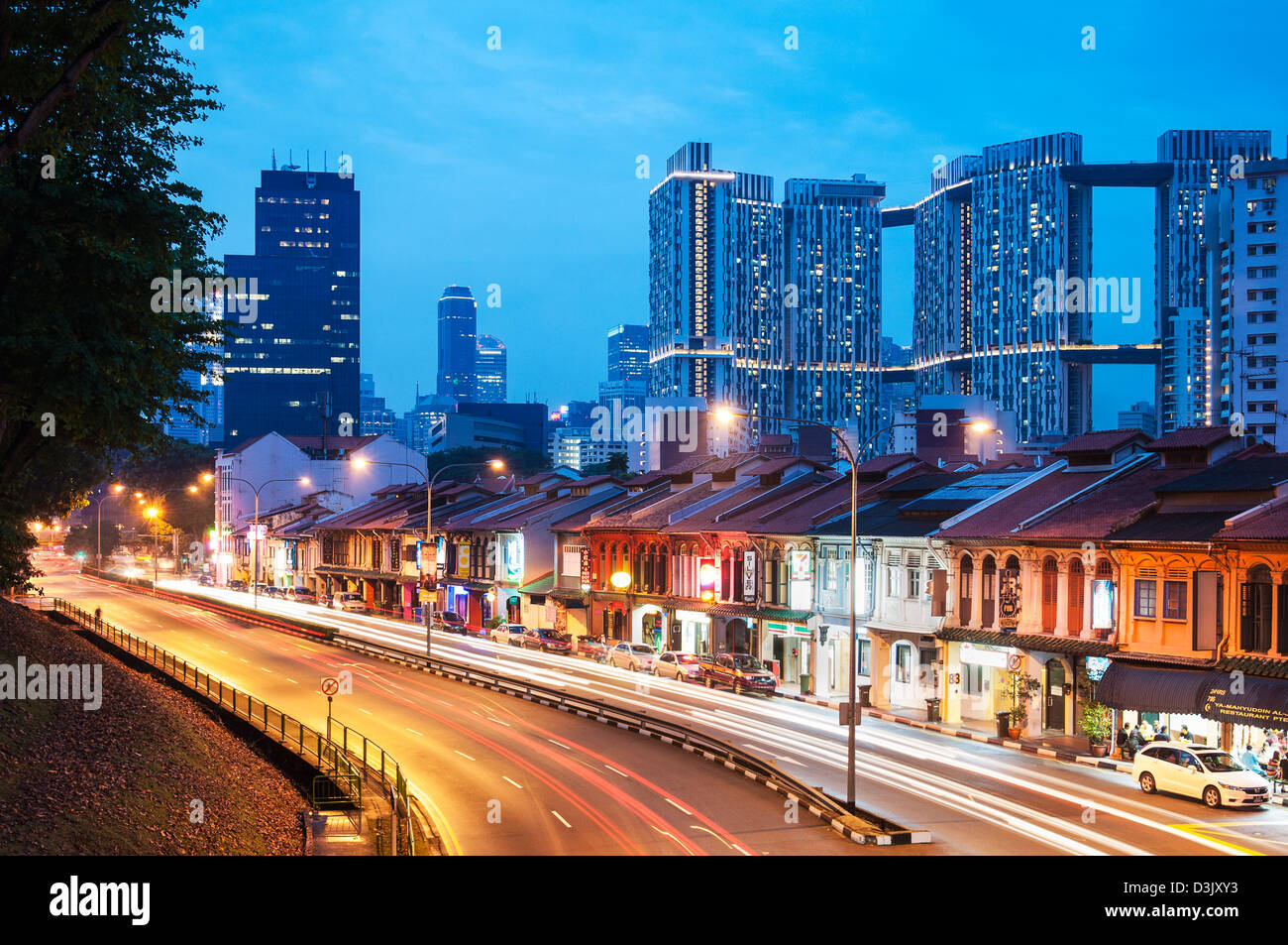 A view of Singapore's premier public housing - Stock Image