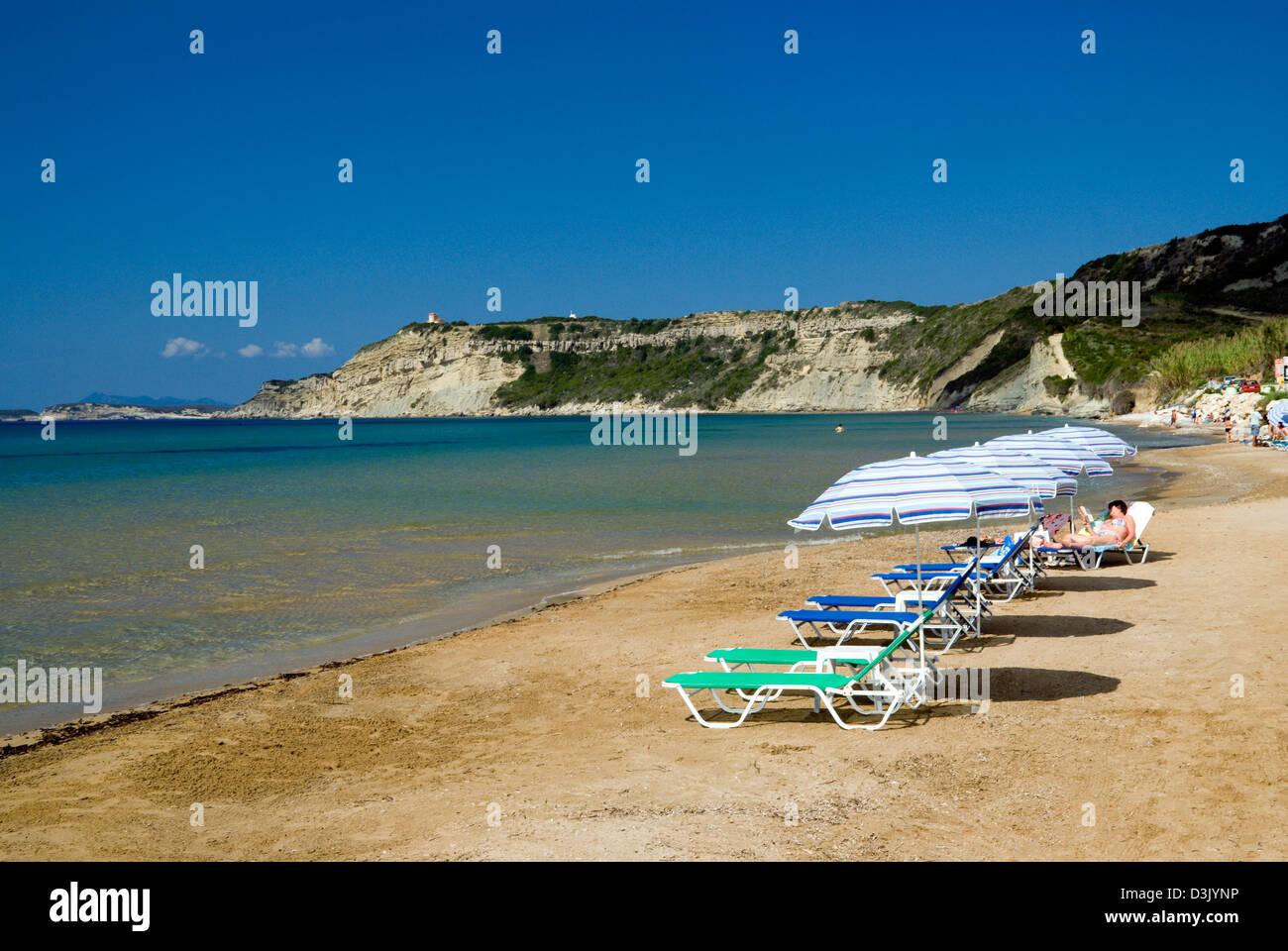 beach, arillas, corfu, ionian islands, greece - Stock Image